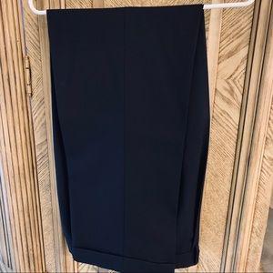 Chaps Navy dress slacks, pleated front cuffs